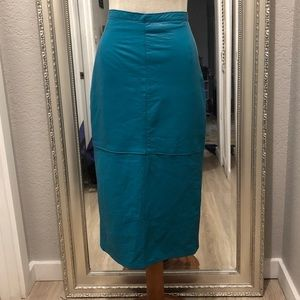 VINTAGE FIRENZE LEATHER HIGH WAISTED PENCIL SKIRT